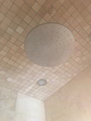 Rainfall shower head where manna from heaven rained down